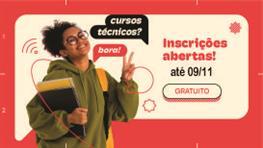 Cursos técnicos 2022 - Inscrições abertas