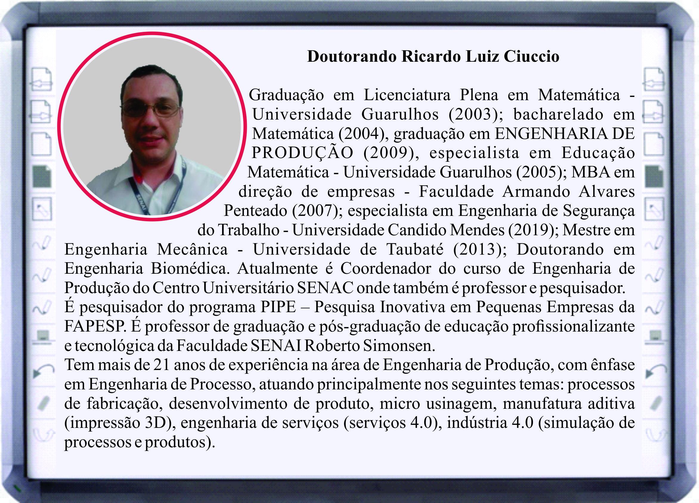 Mini CV Ricardo Ciuccio